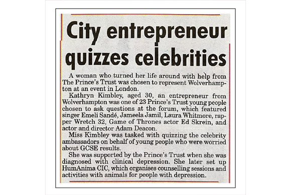 @PrincesTrust And this is the clip from our local paper, The Express & Star #socent #enterprise